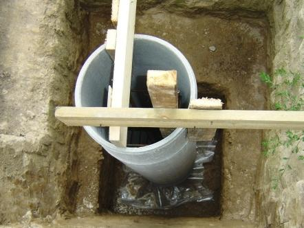 Асбестоцементные трубы – еще один способ залить надежный фундамент