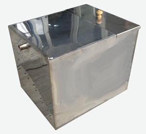 Бак для бани из нержавеющей стали в форме параллелепипеда