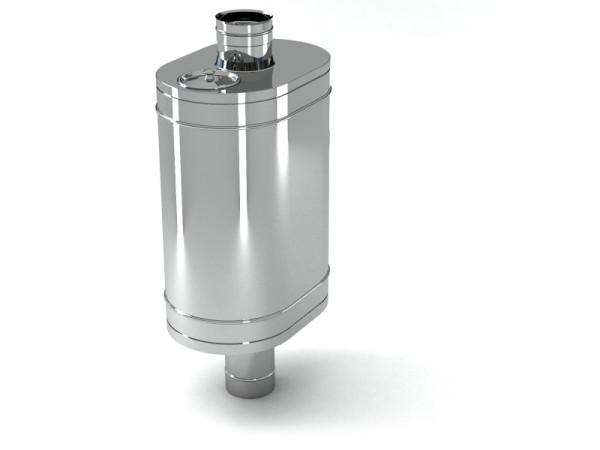 Бак заводского изготовления, который можно использовать в качестве насадки на трубу