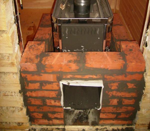 Банная печь-камин.