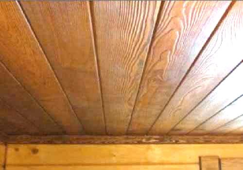 Банный потолок.