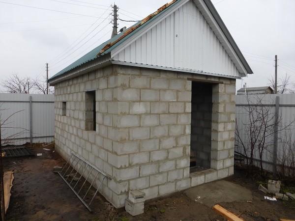 строительство бани из керамзитобетона