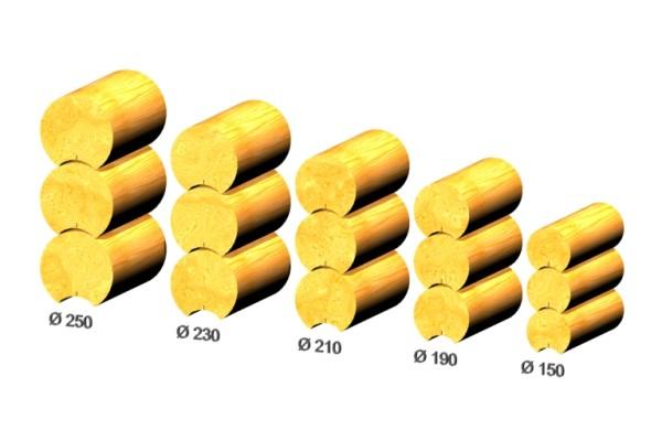 Бревно оцилиндрованное различных габаритов