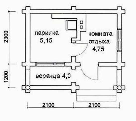 Часть проекта, представленная в виде плана размещения комнат