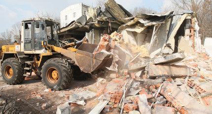 Демонтаж банного сооружения