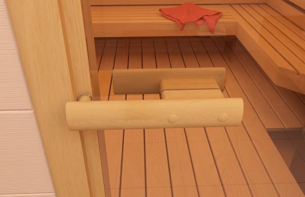 Деревянные дверные ручки для бани соответствуют требованиям безопасности.