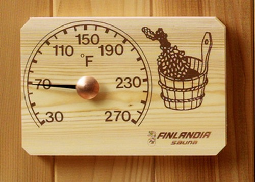 Деревянный банный термометр