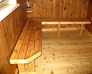 Деревянный пол в бане – самый распространенный вариант