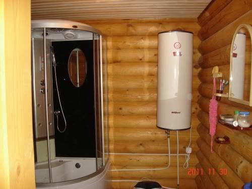 Душевая комната – необязательное, но приятное дополнение к бане.