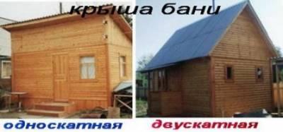Двускатная и односкатная крыша бани: что смотрится лучше?