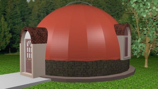 Это не корабль пришельцев и не юрта кочевников, а вариант купольной бани.