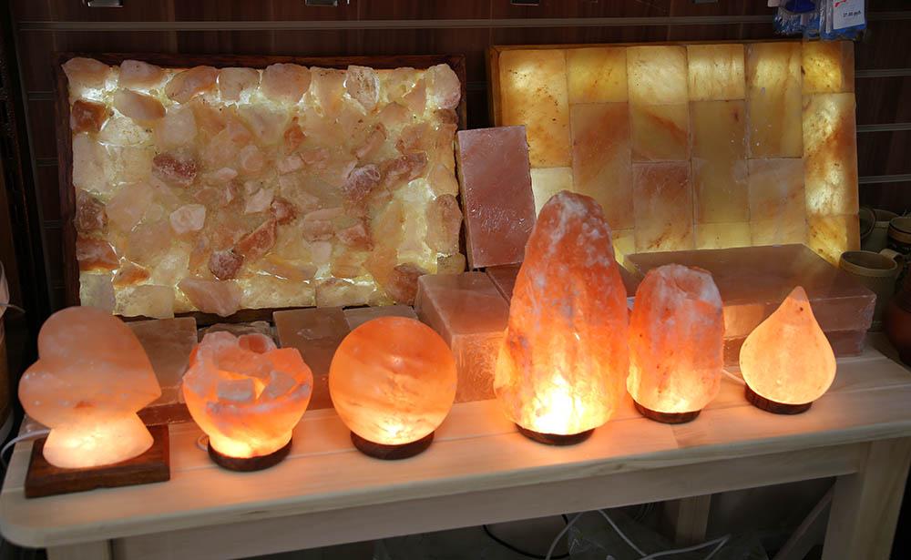 Формы солевого светильника могут быть различными