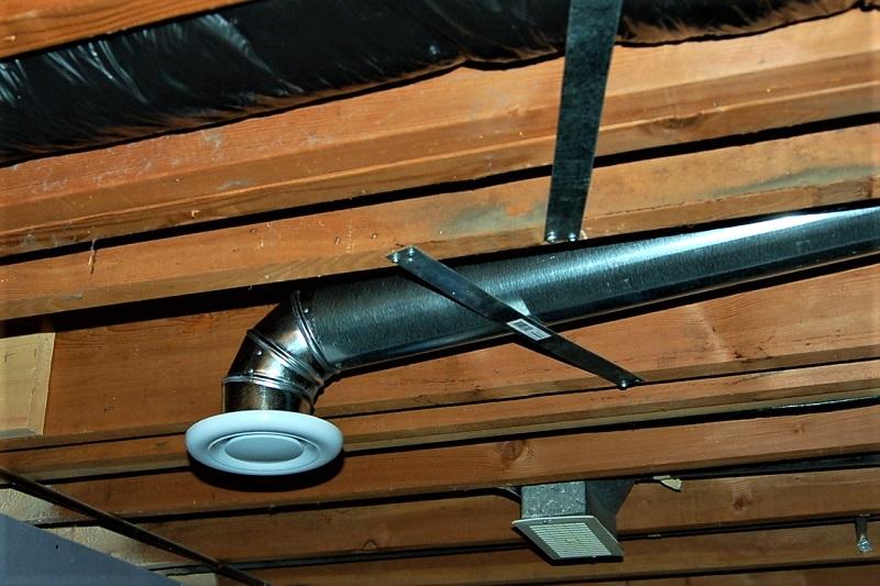 Вытяжки на потолке в бане