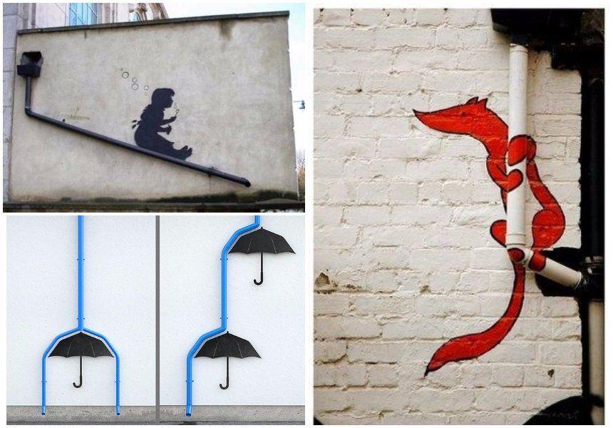Рисунки украсят фасад дома и преобразят водосток