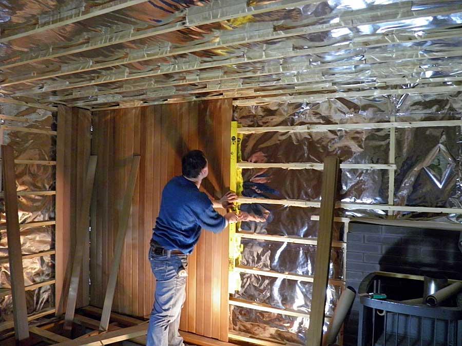 Материал для обшивки стен должен быть воздухопроницаемым
