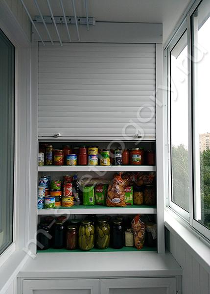 Встроенный шкаф для заготовок