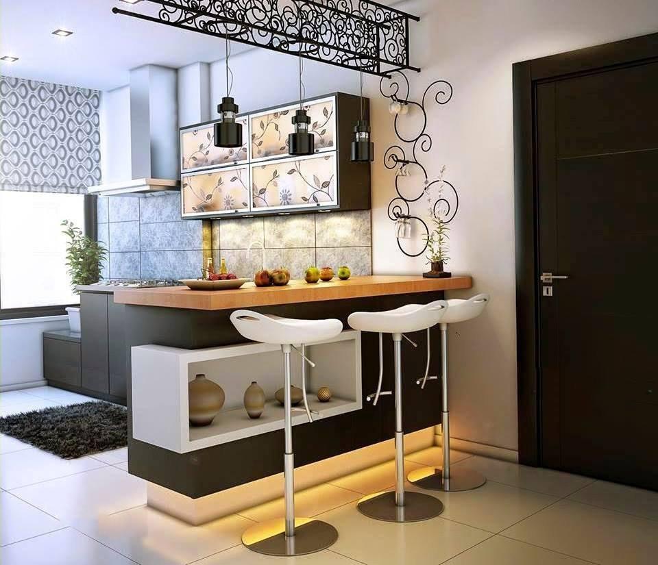 Барная стойка для маленькой кухни.