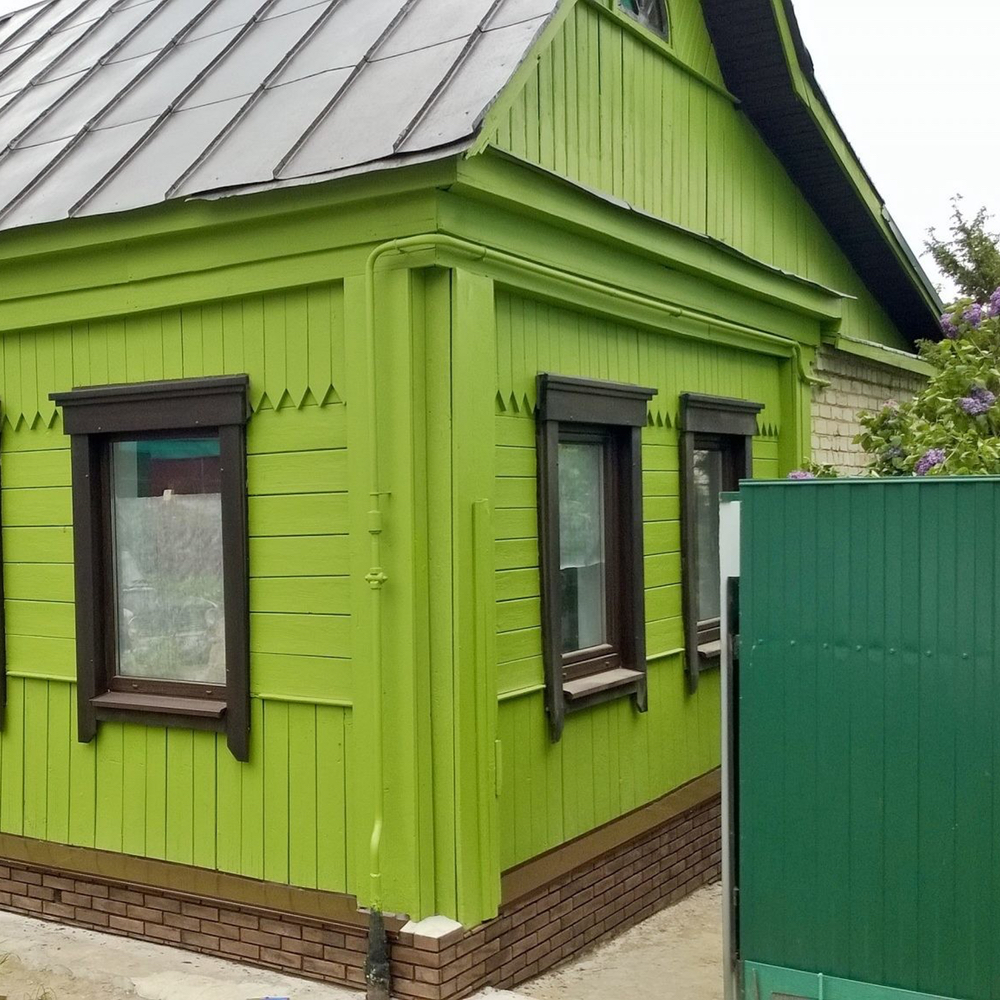 Советы покраски деревянного дома снаружи.