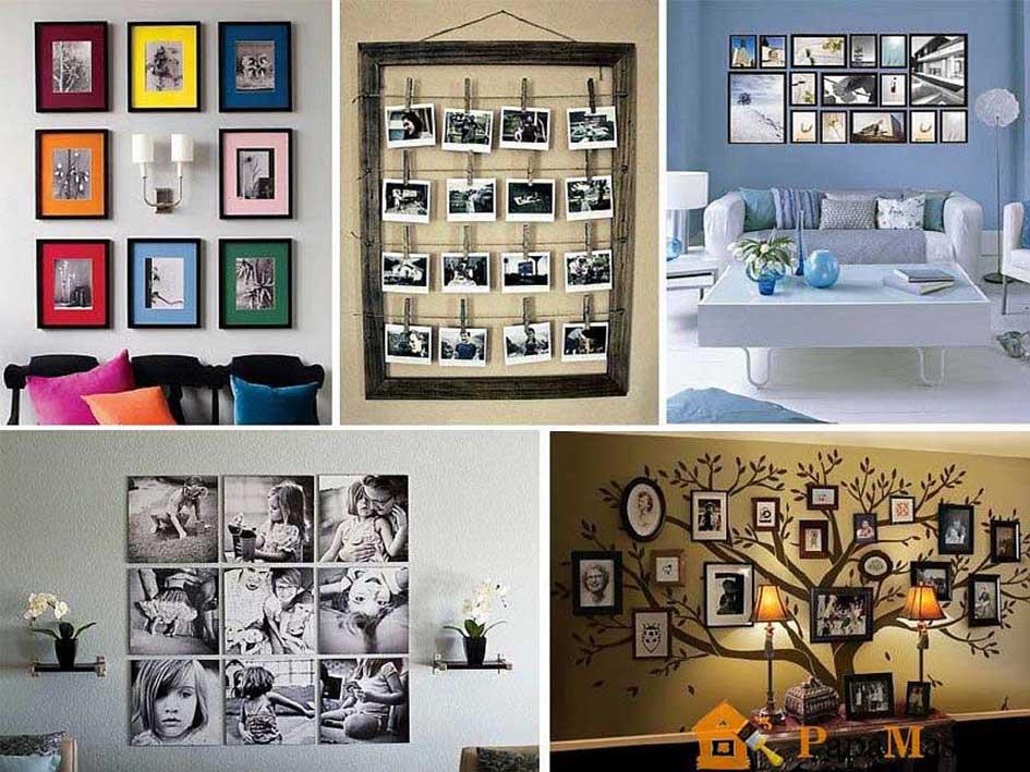 Неповторимая композиция: качественное украшение стен фотографиями.