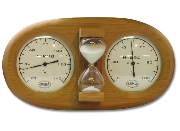 Фото часов с термометром и гигрометром – очень удобный вариант для парной (цена таких изделий на порядок выше других моделей).