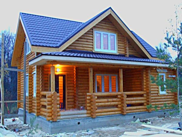 Фото дома-бани из бруса
