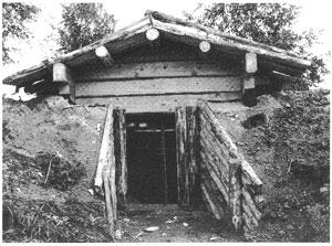 Фото древней сауны-землянки, найденной в Финляндии.
