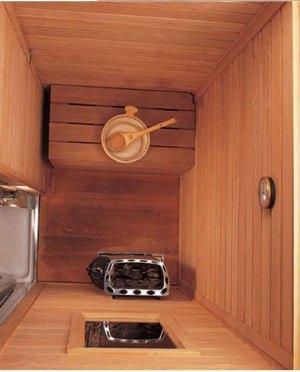 Фото внутреннего обустройства блока сауны