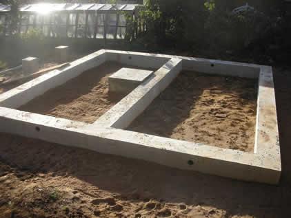 Фундамент с площадкой под печь