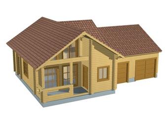 Гараж, пристроенный к основному строению– отличная идея