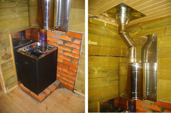 Газовая печь с нагревательным баком для воды