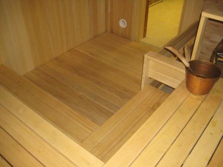 Готовый пол в сауне