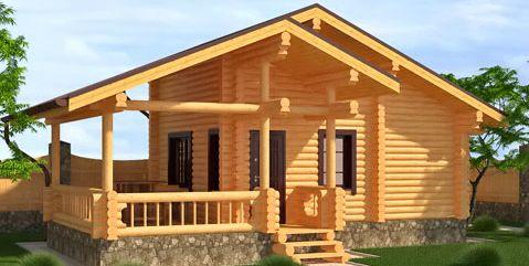 Графическое изображение готовой конструкции из бревен