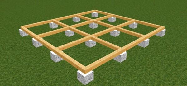Графическое изображение свайного фундамента
