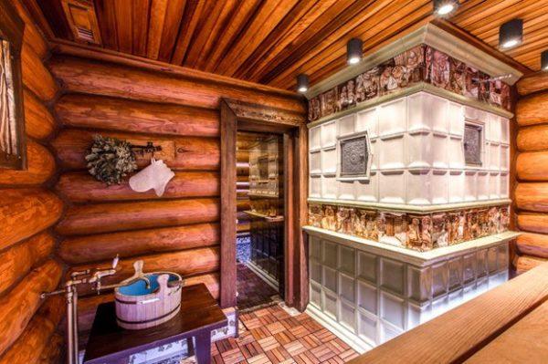 Русская баня с печью