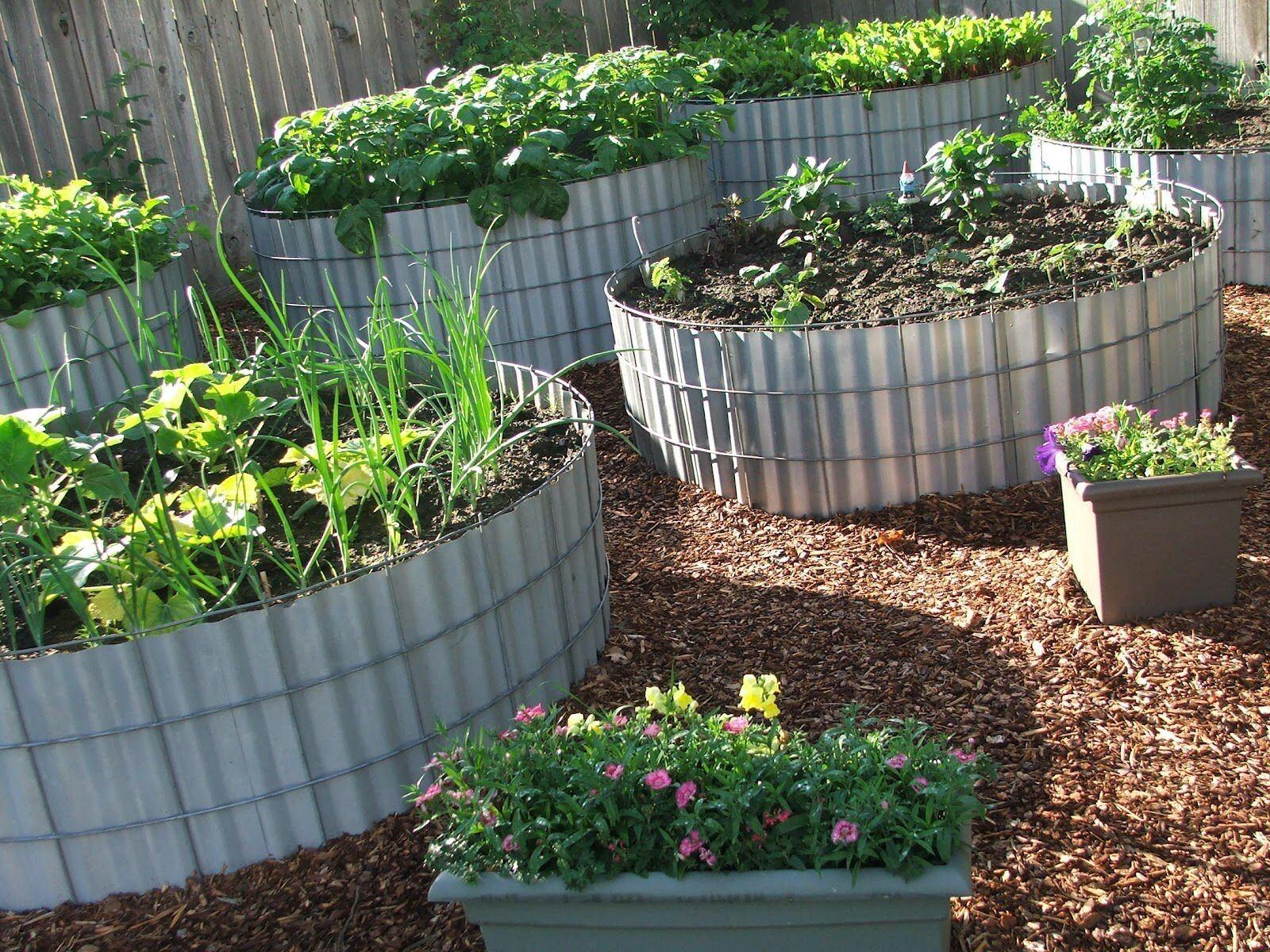 Высокие грядки на огороде не только способ как облегчить себе труд, но и оригинальный декор на даче