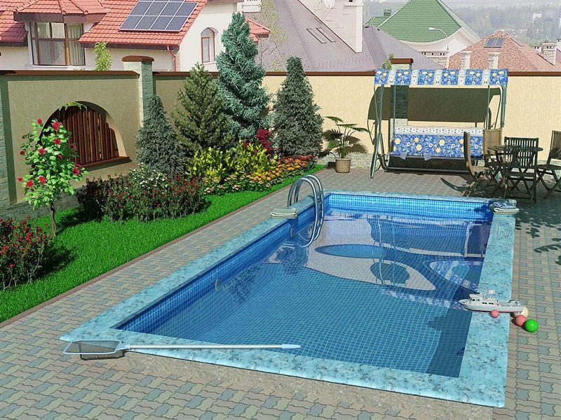 Стационарный бассейн не переносится с места на место, но считается самой надежной конструкцией