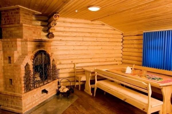 Интерьер деревянной бани