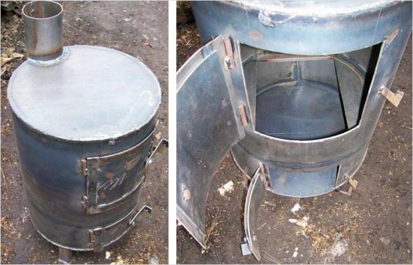 Изготовление устройства из металла производится согласно чертежу с помощью болгарки и электросварки.