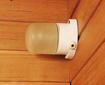Классический банный светильник