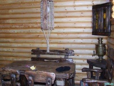 Комната отдыха в деревенском стиле