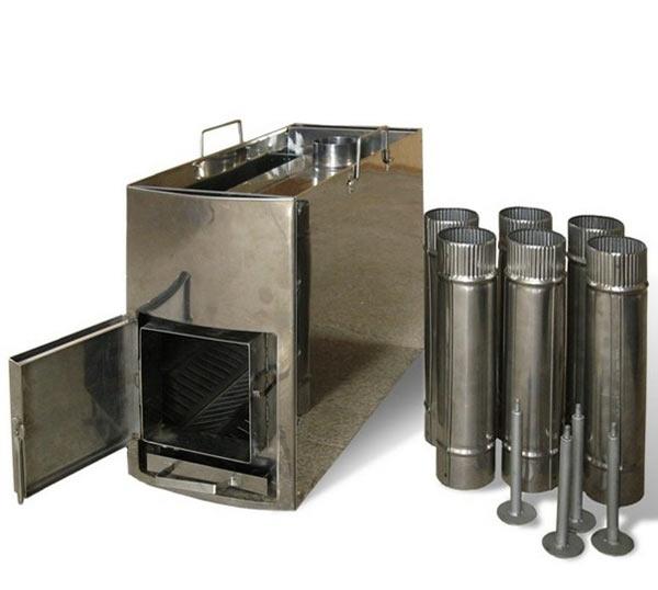 Компактная походная печь для бани