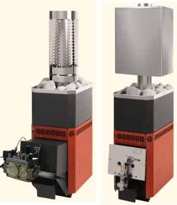 Конструкции на газу с дополнительным нагревателем и водяным резервуаром