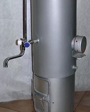 Конструкция титана состоит из топки и емкости с водой, через которую проходит дымогарная труба.