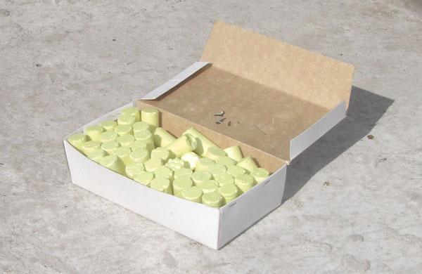 Коробка с серой.