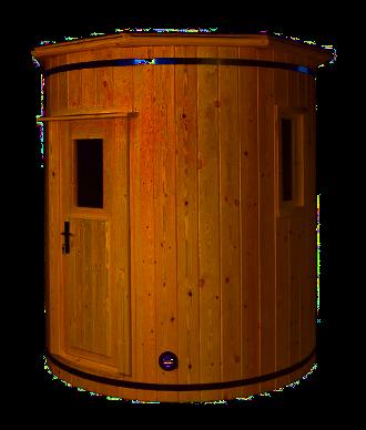Круглая баня исполненная вертикально