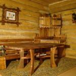 Мебель для бани из массива дерева