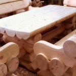 Мебель для бани из сруба