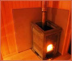 Металлическая печь для маленькой бани