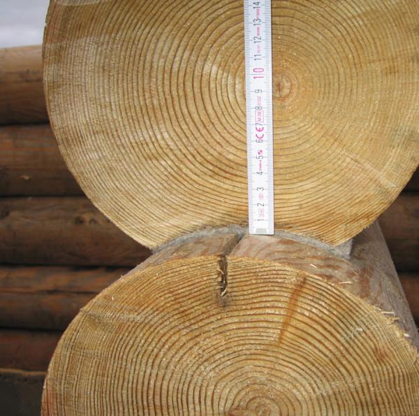 Межвенцовый уплотнитель из овечьей шерсти выпускается лентами толщиною в 18 мм, которая сжимается под тяжестью бревна до 4 мм.