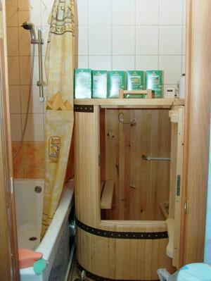 Миниатюрная парилка в ванной комнате